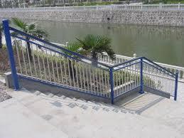 outdoor metal stair railing
