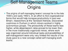 self managed teams self managing teams