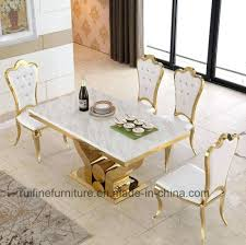 marble dining table set modern dining room furniture stainless steel gold marble dining table sets marble