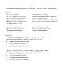 Master of Business Administration Resume Word Free Download