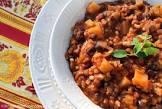 black bean and rice stew