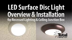 sylvania ultra led disc light overview installation by total recessed lighting you