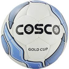 real leather sport cosco gold cup soccer ball size 5 multcolor
