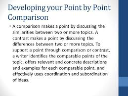 compare and contrast rhetorical analysis ppt video online  developing your point by point comparison
