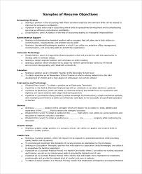 Technical Resume Objective Examples General Resume Objective Examples gentileforda 81