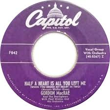 45cat - Gordon MacRae And The Starlighters - Poison Ivy / Half A Heart Is  All You Left Me (When You Broke My Heart In Two) - Capitol - USA - F842