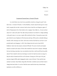 a sound of thunder essay illustration essay example papers  compare contrast essays short stories 91 121 113 106 compare contrast essays short stories