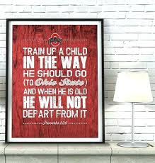 ohio state wall decorations state wall decor state buckeyes inspired train up a child art print ohio state wall decorations state wall art
