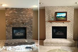 painting brick ideas brick fireplace ideas beautiful