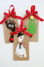 Footprint Christmas Ornaments