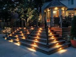 outdoor stairs lighting. Outdoor Step Deck Lighting Attractive Stairs Led .