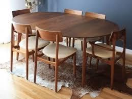 round walnut dining table. InspirationSmaller, Round Not Oval; Mid-Century Modern Dining Walnut Table