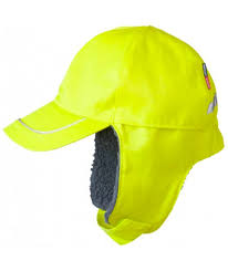 Fristads Kansas Winter Cap With Fibre Pile Lining Yellow Hi Vis