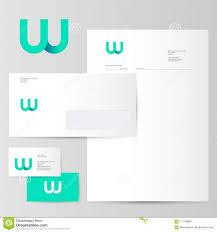 W Logo W Azure Letter Monogram And Identity Corporate Style