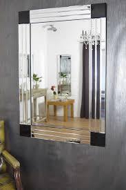 Bevelled Bathroom Mirror Silver Black Bevelled Triple Edge Modern Venetian Mirror Yc012