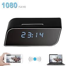 1080p mini wireless wifi alarm clock ir security motion detection