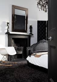 view in gallery black carpeting in an elegant bedroom