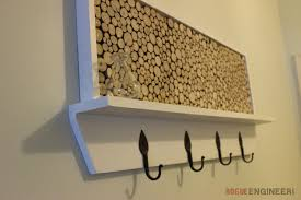 Coat Rack Shelf Diy Awesome DIY Coat Rack Plans With Feature Area Rogue Engineer