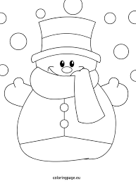 Small Picture Winter coloring page Snowman Winter Pinterest Snowman