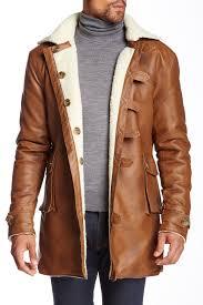 image of seduka faux fur lined faux leather coat