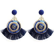 Bohemian Alloy Resin <b>Crystal</b> Tassel Earrings for Women <b>Jewelry</b> ...