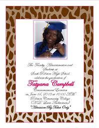 Print Graduation Announcement Cheetah Print Graduation Announcement 3 From Southern Desktop Publishing