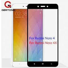 gertong full cover screen protector tempered glass for xiaomi redmi note 4 global version note 4x 4 pro 4a color protective tempered glass protector