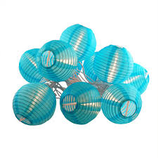 Turquoise Decorative Accessories Nylon Lantern String Lights in Turquoise100 The Home Depot 79