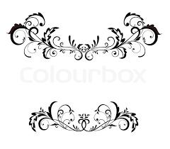 Vintage black frame Stock Vector Colourbox
