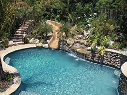 swimming pools with slides and waterfalls.  Pools Large Pool U0026 Waterfall Have The Kids  With Swimming Pools Slides And Waterfalls