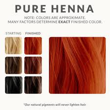 Hair Dye Colors Chart Lush Henna Hair Dye Color Chart Bedowntowndaytona Com