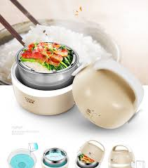 <b>Kbxstart Multi function</b> Portable Mini Electric Lunch Box Stainless ...