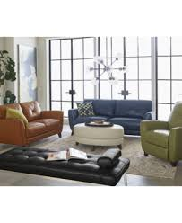 Myia Leather Sofa Created for Macy s Furniture Macy s