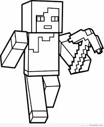 Small Picture Minecraft Coloring Pages TimyKids