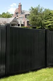 black vinyl privacy fence. Black Vinyl Fence 6 Color Tongue And Groove Privacy Shown In A