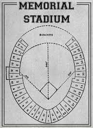 Orioles Seating Chart Pictures Print Of Vintage Baltimore Orioles Memorial Stadium Seating