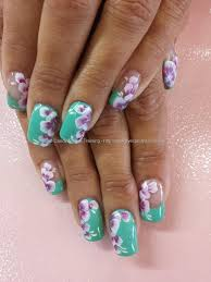 Eye Candy Nails & Training - Mint green gel polish with one stroke ...