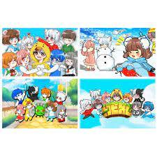 8 tấm) Poster khổ A4 HERO TEAM Simmy Phong cận Siro Mr Vịt Sammy Đào Timmy  Kairon Timy Kamui game chibi anime giá cạnh tranh