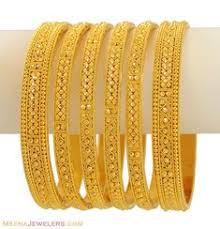 indian bangles 22kt indian bangles set of 6 bast9475 22kt gold