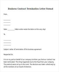 Editable Letter Sample For Cancellation Of Business Contract Vatansun