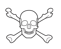 Small Picture Pleasurable Design Ideas Bone Coloring Pages Skull With Bones