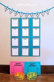 Birthday Chart For Teachers Birthday Crowns Certificates Chart For Your Classroom
