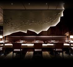 Love the hidden lights in the design . Nobu Japanese Restaurant Interior  Design Ms