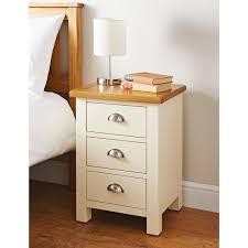 bed side furniture. newsham 3 drawer beside table bed side furniture