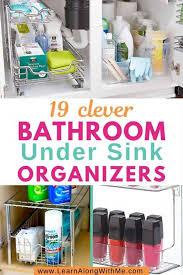 under sink organizers and storage ideas