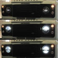 lite phase 7 led headlamps rhd for land rover defender special truck lite phase 7 led headlamps rhd for land rover defender special editions