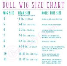 Blythe Doll Size Chart Wig Size Chart Doll Wigs Doll Hair Wigs