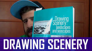 drawing scenery landscapes and seascapes by jack hamm book flip through