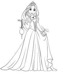 Rapunzel Principessa Aurora Disney Princess Disegno Da Colorare
