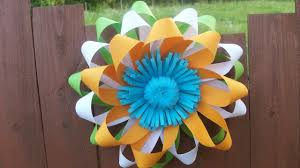 easy paper flower wall decorations for wedding republic day party diy home class decor craft ideas